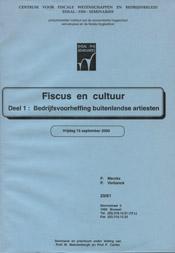 Fiscus en Cultuur