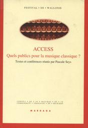 Access: quels publics pour la musique classique