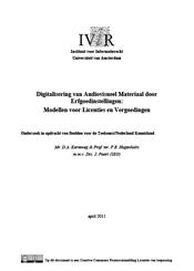 Digitalisering van audiovisueel materiaal door erfgoedinstellingen